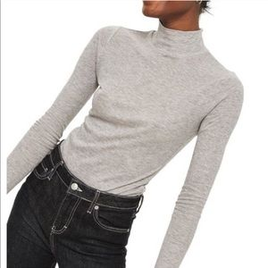 Topshop Gray Long Sleeve Turtleneck